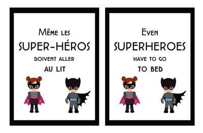 Affiche métallique : Super-Héros