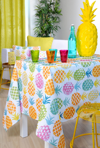 Nappe traitée anti tâches - Ananas (disponible en 2 dimensions)