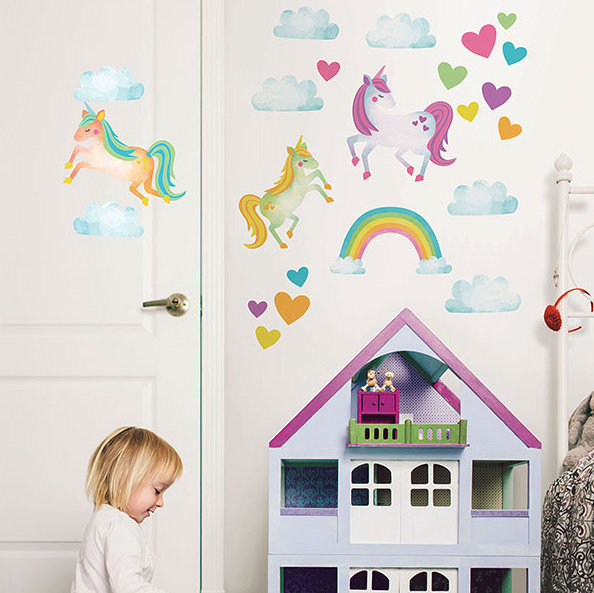 Collant mural Licornes
