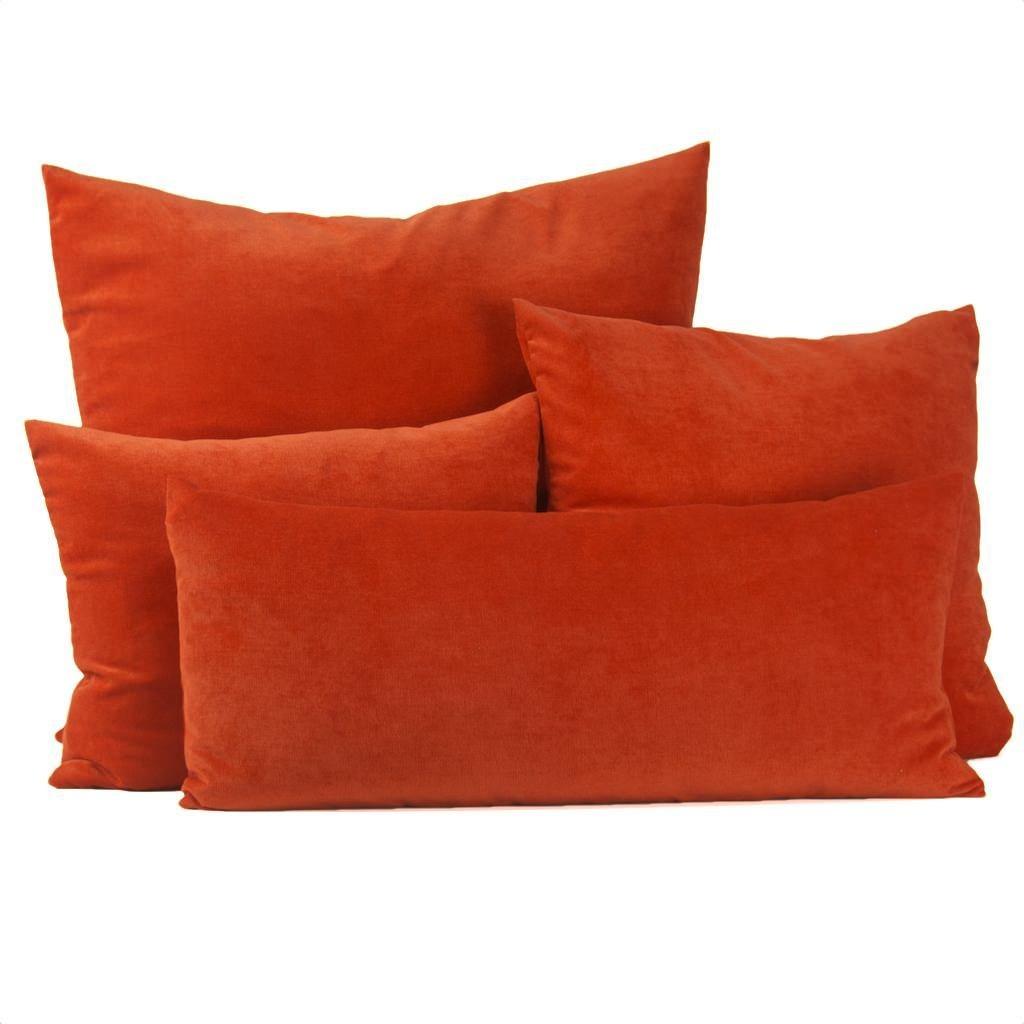 Coussin en Velours Orange 25'' x 25''