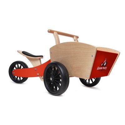 Draisienne cargo en bois ''Tiny Tot'' Rouge