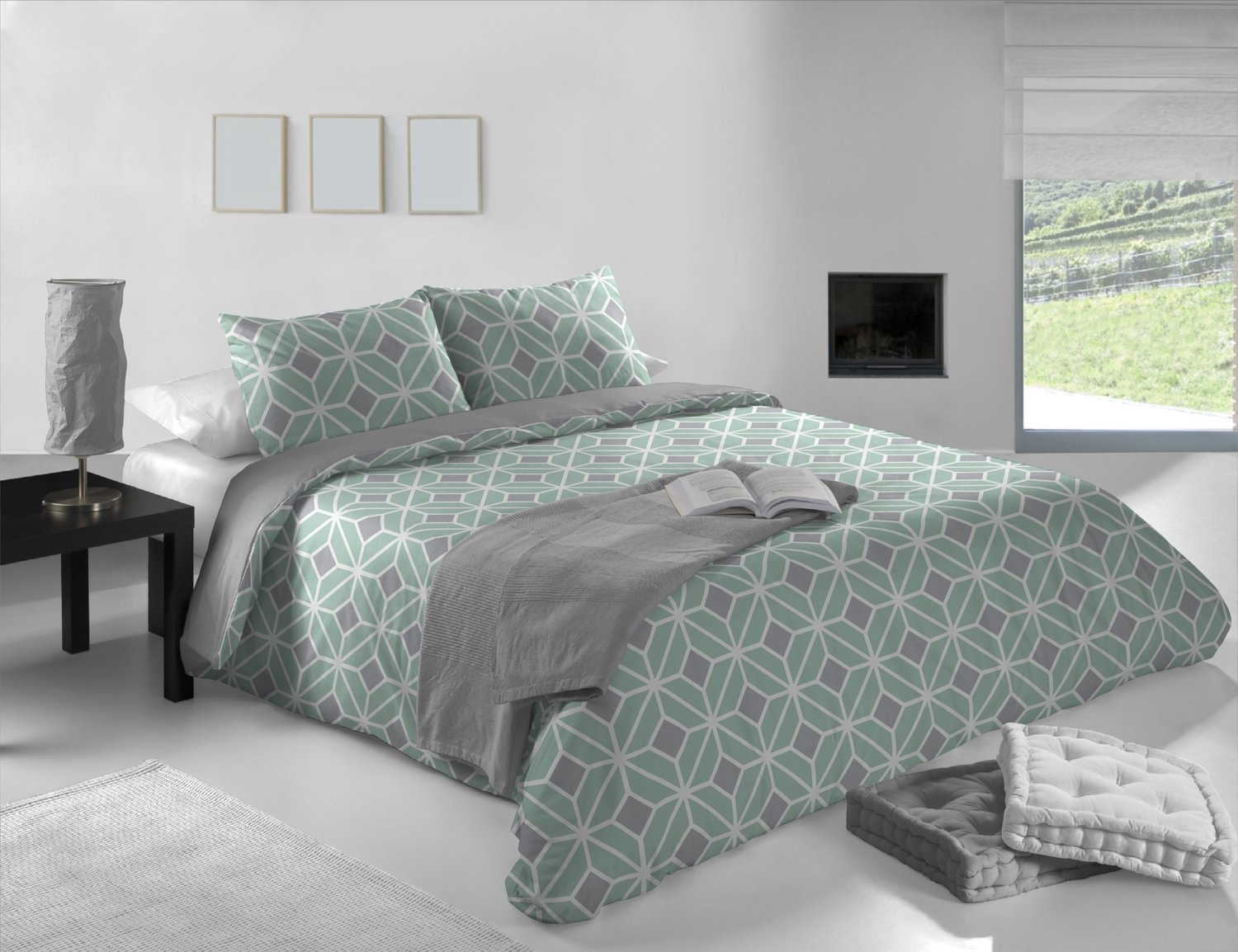 housse de duvet komet aqua. Black Bedroom Furniture Sets. Home Design Ideas