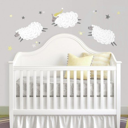 Collant mural Compter les moutons