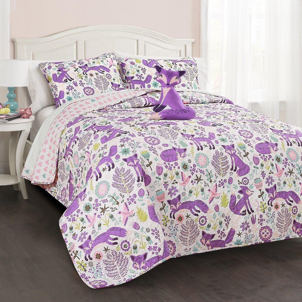 Courtepointe réversible - Pixie Fox Purple