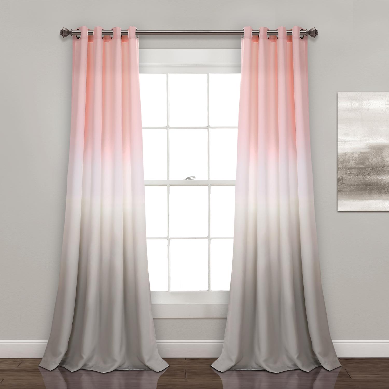Ensemble de 2 panneaux de rideaux assombrissants - Umbre Fiesta Rose