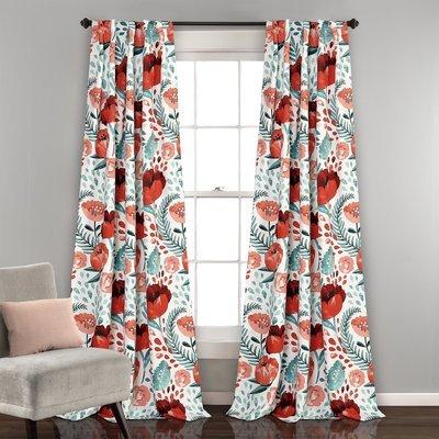 Ensemble de 2 panneaux de rideaux assombrissants - Poppy Garden
