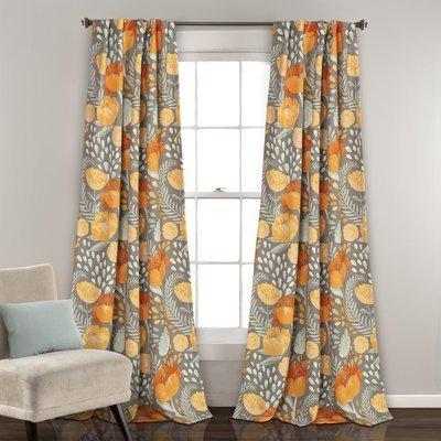 Ensemble de 2 panneaux de rideaux assombrissants - Poppy Garden Jaune