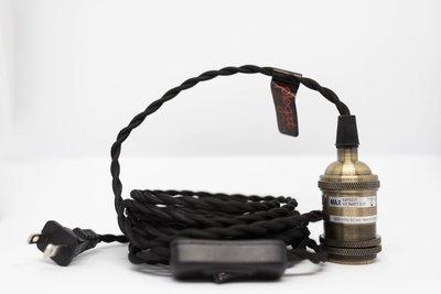 Câble plog-it Tressé noir