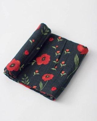 Couverture en mousseline de coton/ Poppy