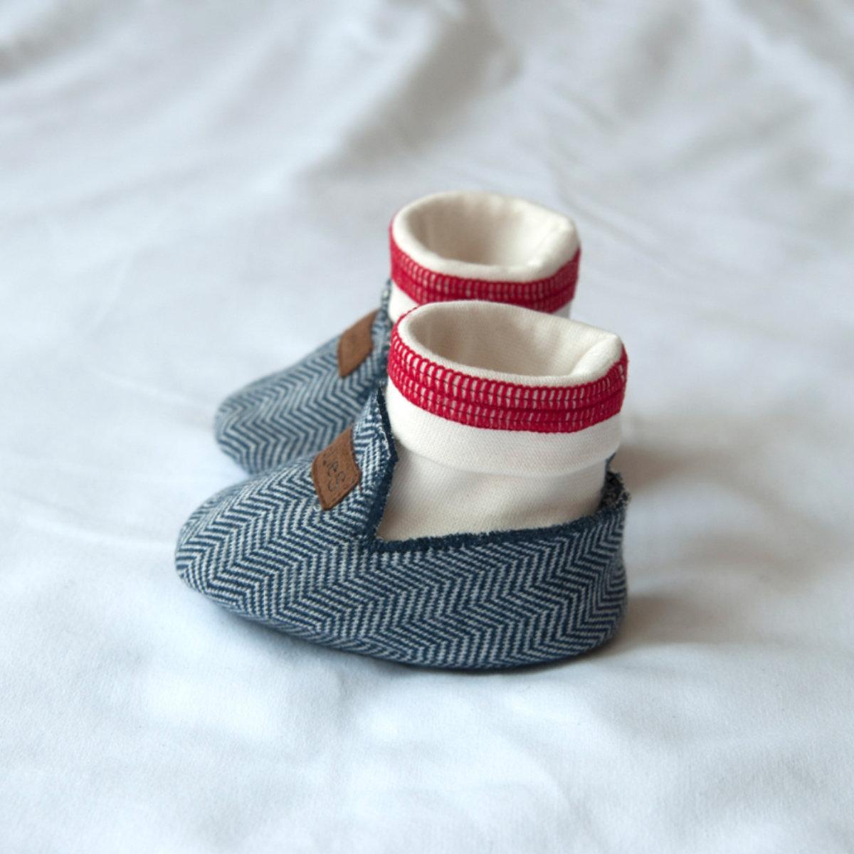 Pantoufles bébé - Juddlies Cozy Cottage Bleu