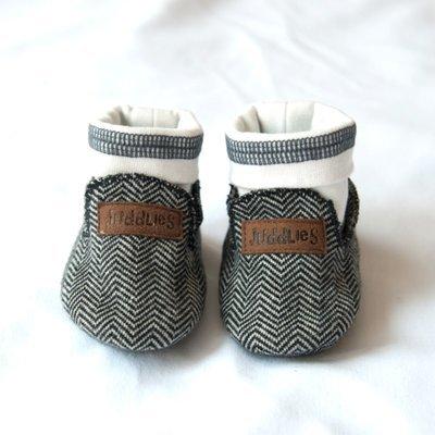 Pantoufles bébé - Juddlies Cozy Cottage Noire