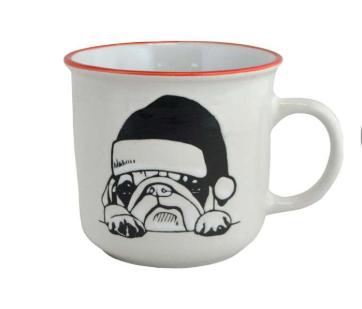 Tasse- Bulldog de Noël