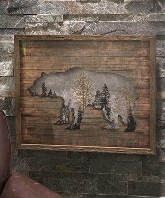 Cadre en bois- Ours