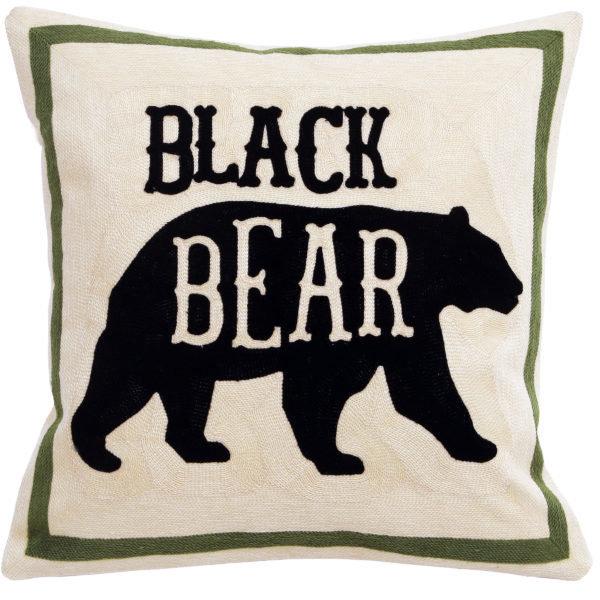 Coussin Black Bear 18'' x 18''