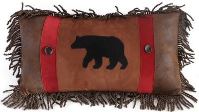Coussin Suede Bear 14'' x 26''