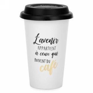 Tasse transport- L'avenir appartient à ceux qui boivent du café