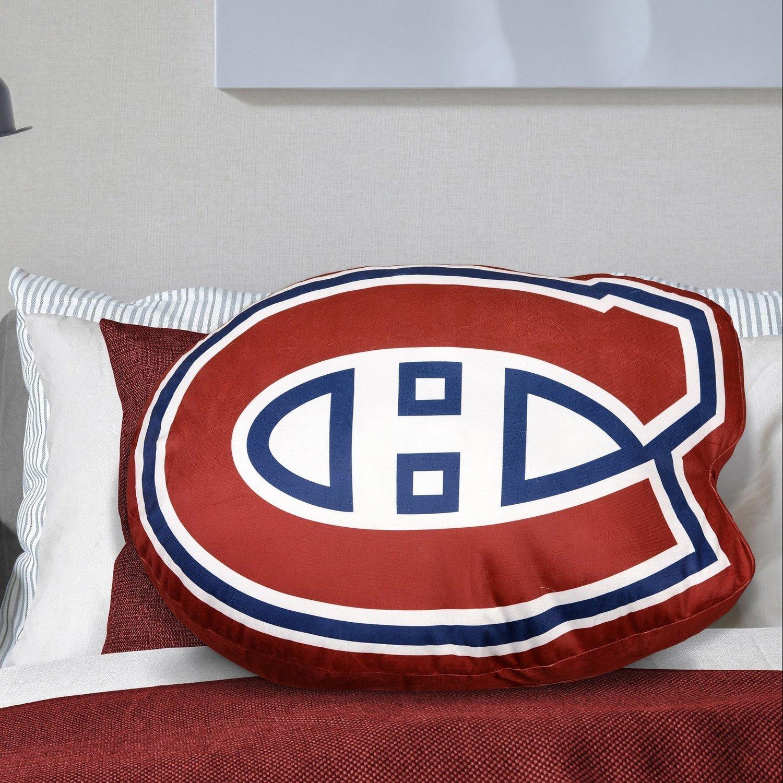 🔥 LNH - Grand coussin logo du Canadiens