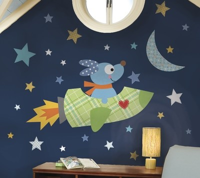 Collant mural ''Rocketdog''