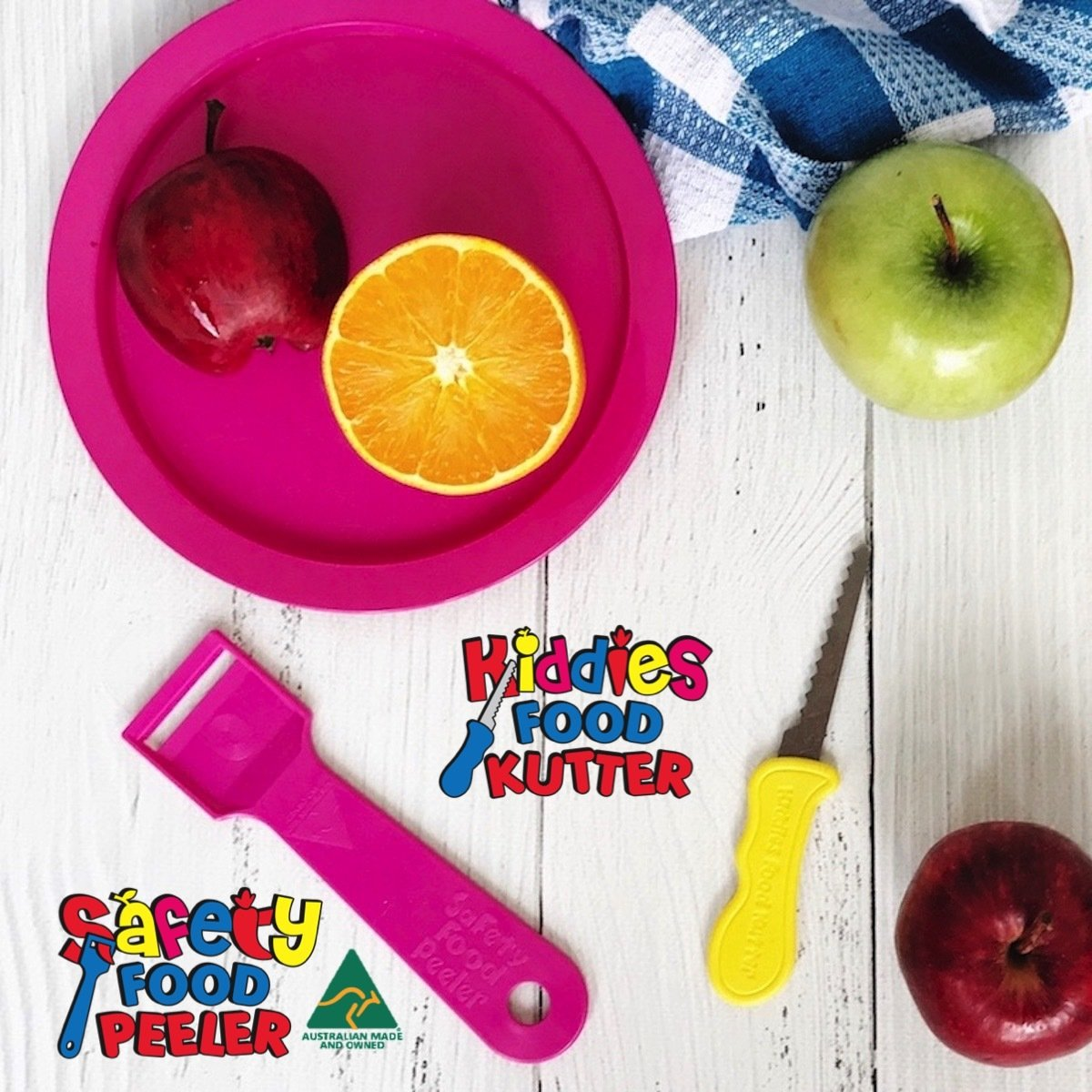 Kiddies Food Kutter & Safety Food Peeler