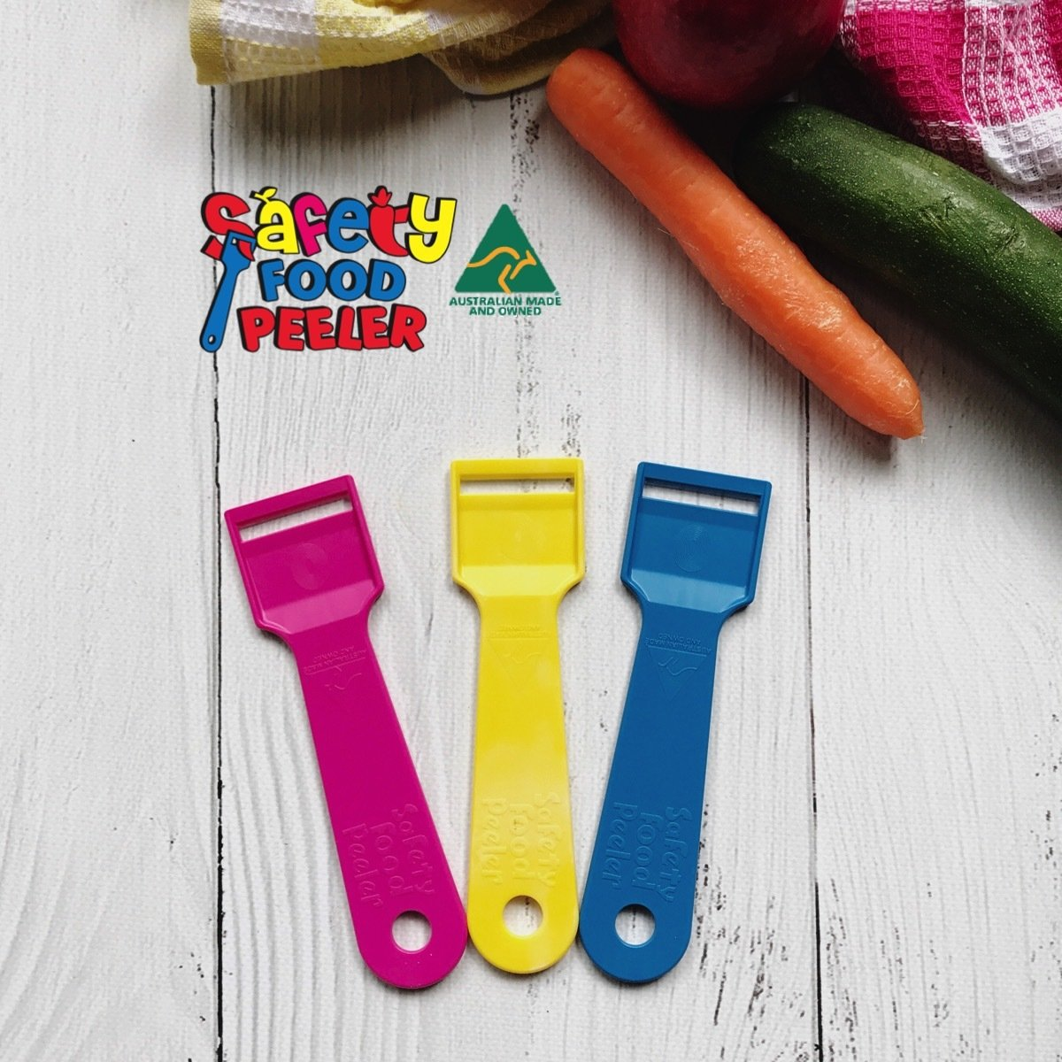 3 Pack - Safety Food Peeler 3 Pack SFP