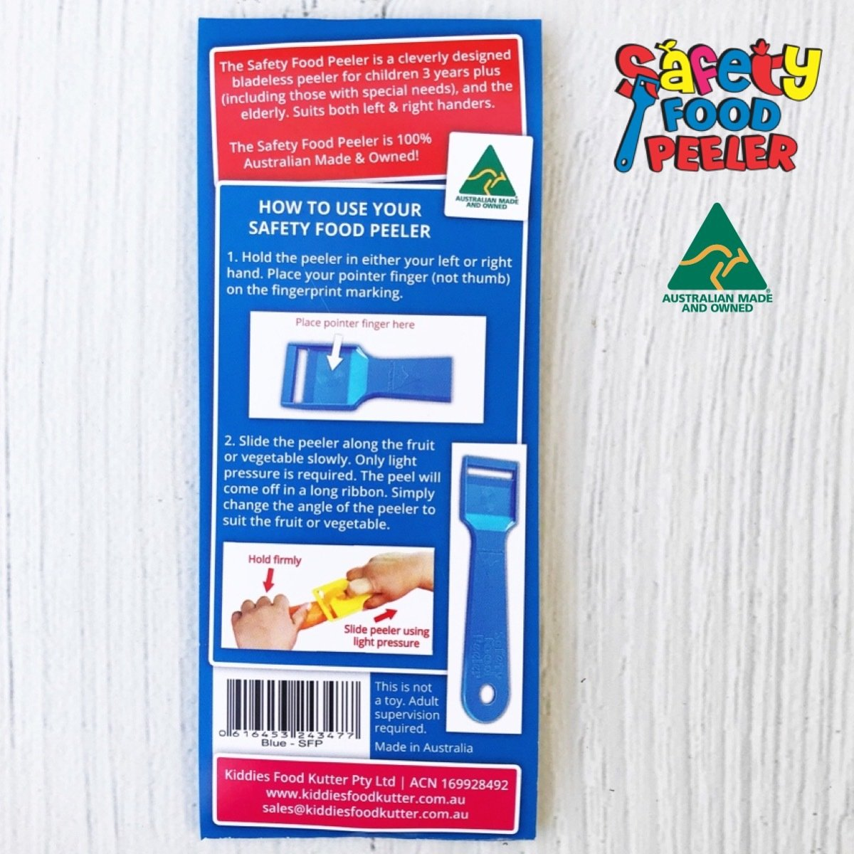 Safety Food Peeler Instructions