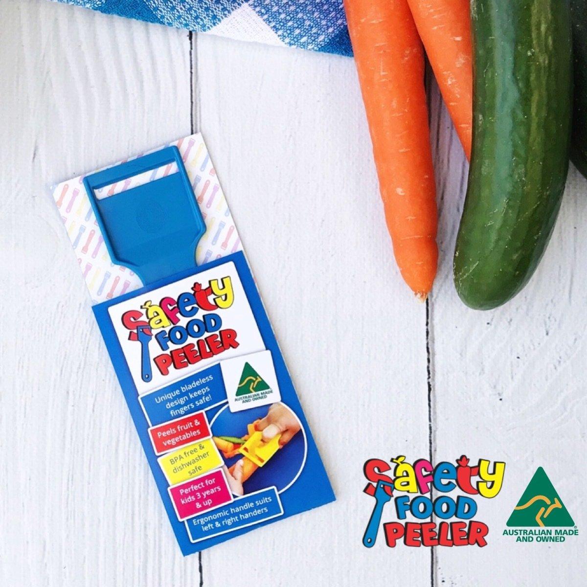 Safety Food Peeler Blue