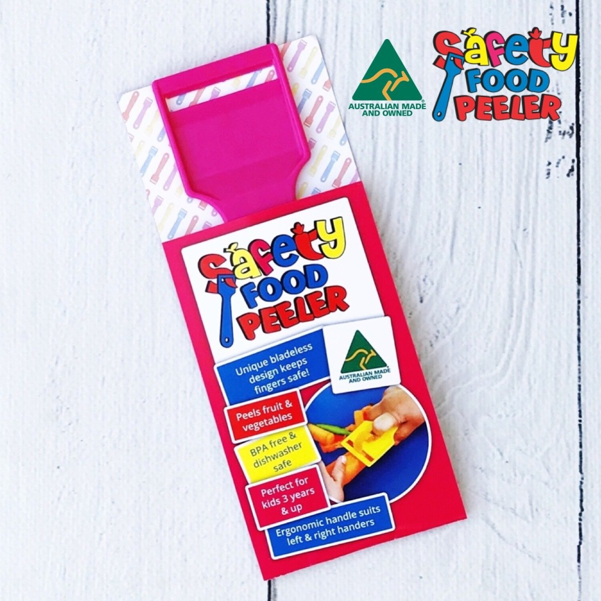 Safety Food Peeler Pink