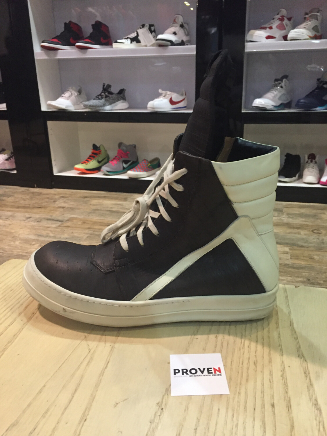 size 40 5aade a2093 Rick Owens Geobasket HiTop size 11