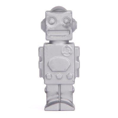 Silver Robot Pencil Topper