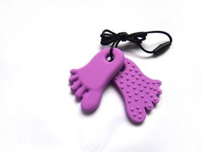 Footprint Pendant Purple