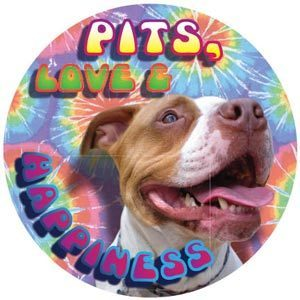 Pits, Love & Happiness Magnet