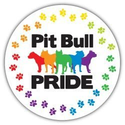 Pit Bull Pride (round) Magnet