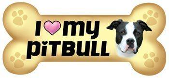 I <3 my pit bull Bone Magnet