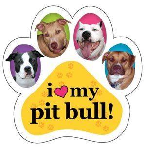 I <3 my pit bull Magnet