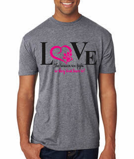 Love Is Why I Fight Shirt (Tee, Baseball Tee)