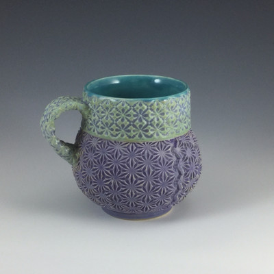 Bubble Cup in turquoise, mermaid & purple