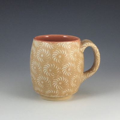 12oz Cup in peach & painted iron