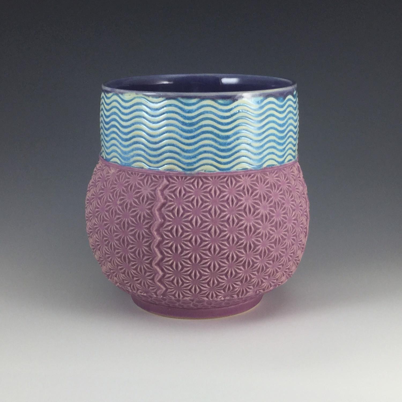 Utensiler in purple, lake ice blue & gum
