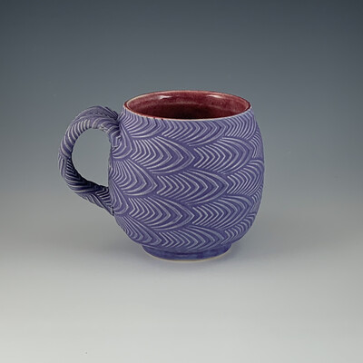 12oz Cup in crimson & purple