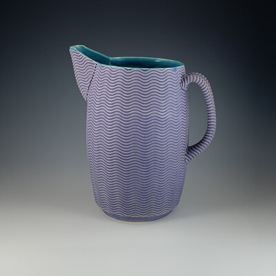 Pitcher in purple & turquoise