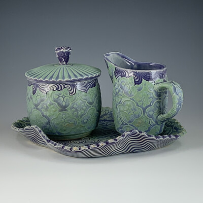 Sugar & Cream set in turquoise, mermaid & purple
