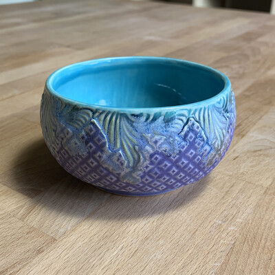 Dip/Sauce/Ice Cream Bowl in turquoise, watered mermaid & purple