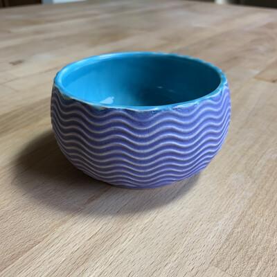 Dip/Sauce/Ice Cream Bowl in turquoise & purple