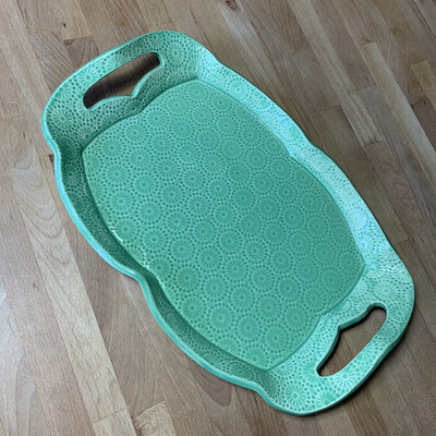 Tray in green