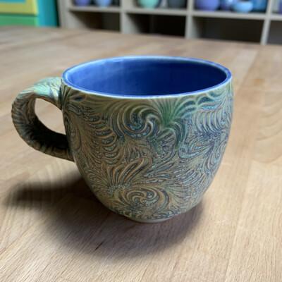 Tea Cup in purple & twilight
