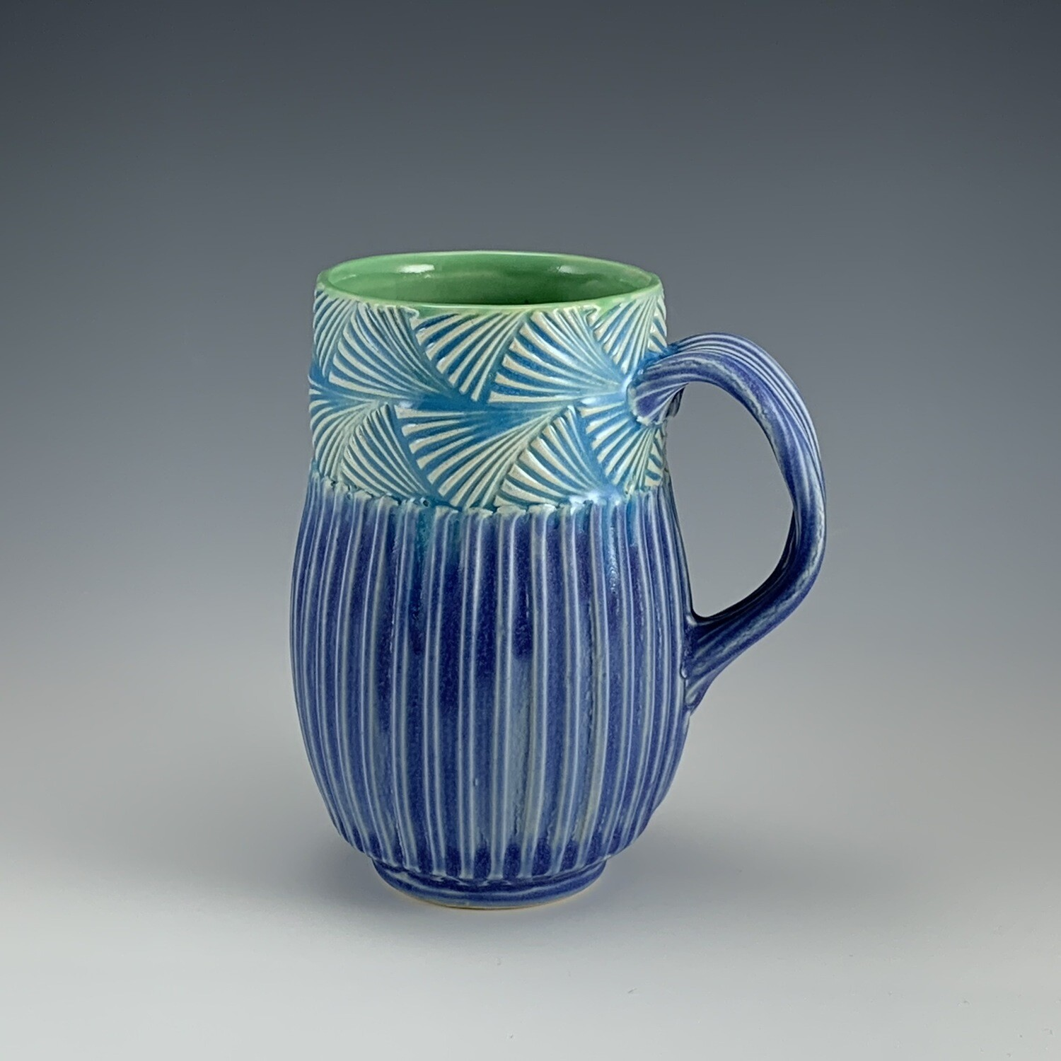 Cascadia Cup in green, lake ice blue & bloo