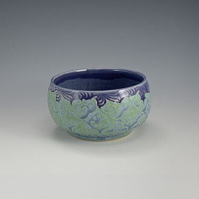 Dip/Sauce/Ice Cream Bowl in purple & mermaid