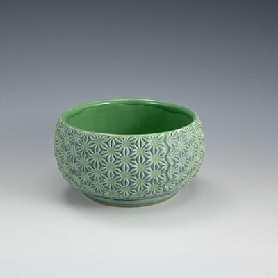 Dip/Sauce/Ice Cream Bowl in green & mermaid