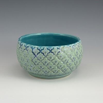 Dip/Sauce/Ice Cream Bowl in turquoise & mermaid
