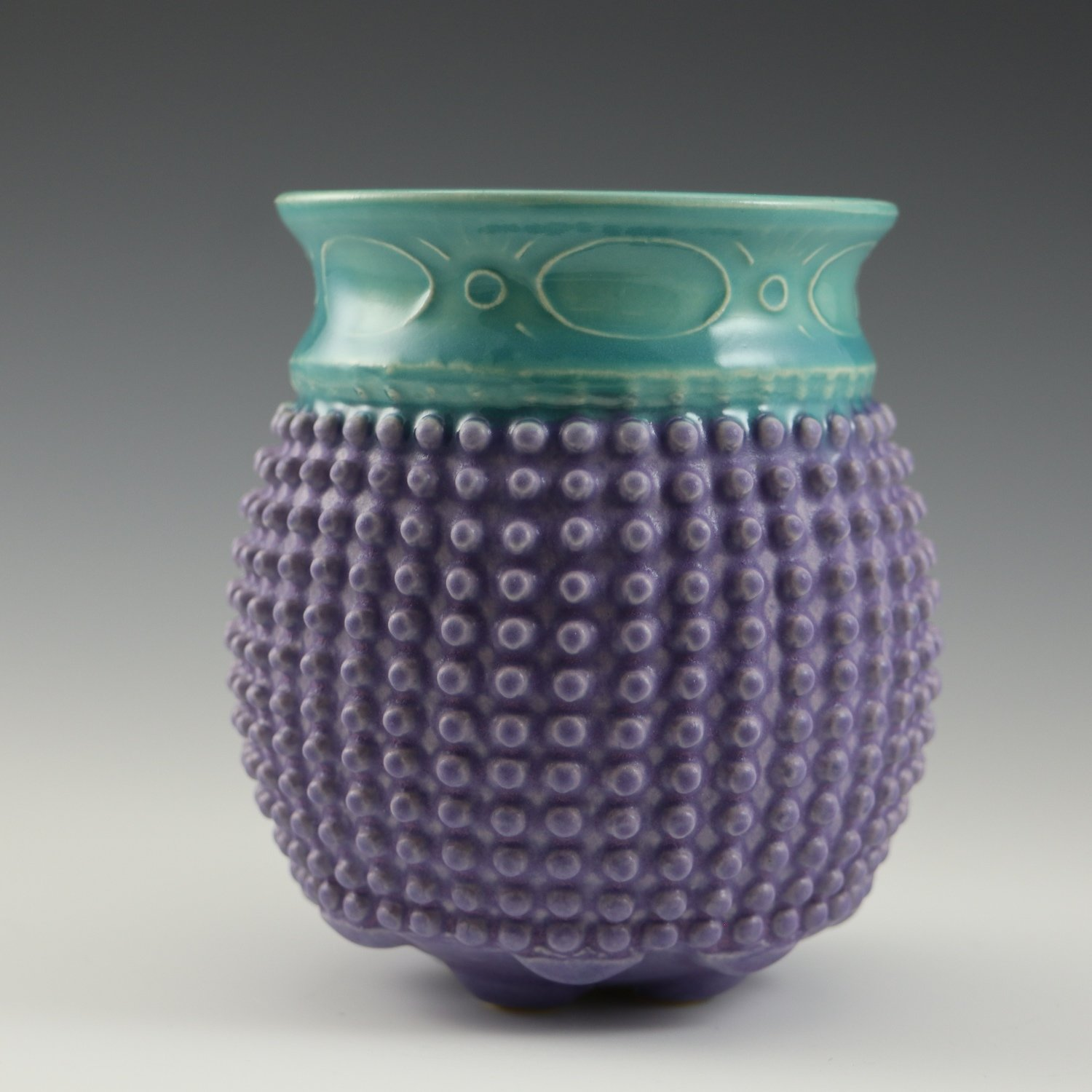 Touchy Libation in turquoise & purple